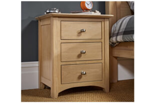 Woody 3 Drawer Bedside