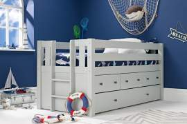 Jubilee Captain's Bed in Soft Grey