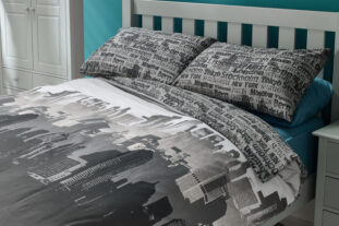 City Scape Double Duvet Set