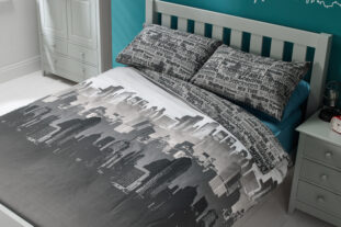 City Scape Single Duvet Set
