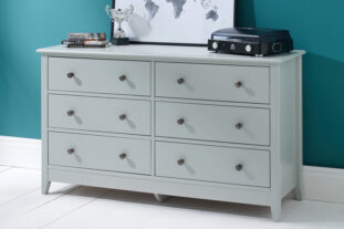 Jubilee 6 Drawer Chest in Soft Grey