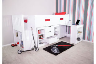 Charlie Storage Midsleeper with Pull Out Desk