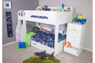 White Flick Bunk Bed
