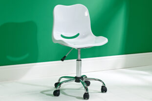 New York White Swivel Chair