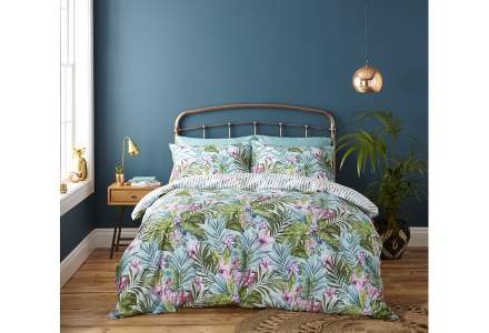 Tropical Leaf Double Duvet Set