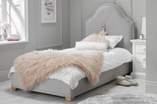 Bella Upholstered Bed in Dove Grey