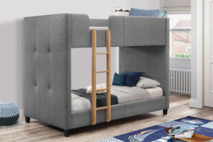 Frankie Upholstered Bunk Bed - Grey