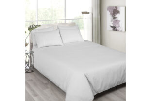 Grey Pin Stripes Single Duvet Set