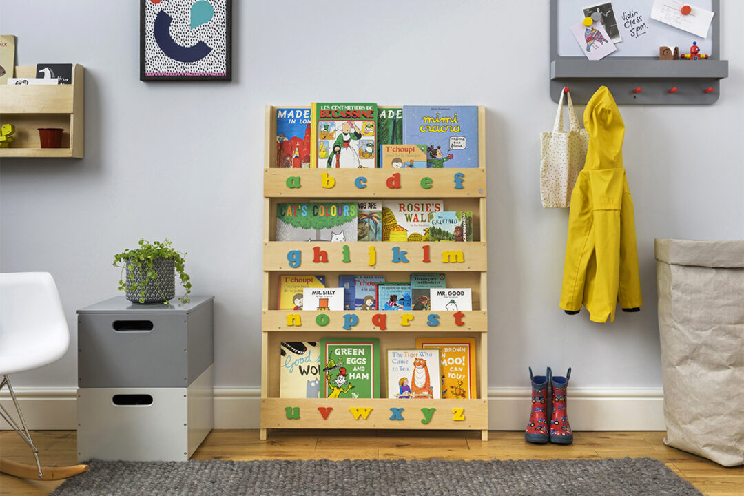 Wood Children's Bookcase With Letters