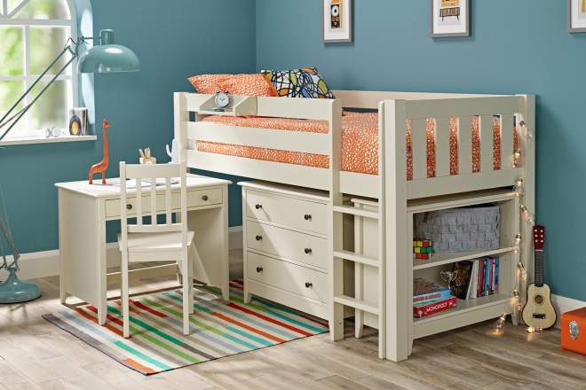 Girls Mid Sleeper Beds Room To Grow