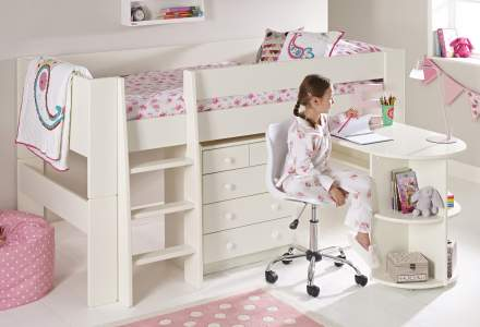 Fabulous Childrens Mid Sleeper Beds Kids Mid Sleeper With Desk Squirreltailoven Fun Painted Chair Ideas Images Squirreltailovenorg