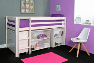 Thuka Hit 2 - Midsleeper with Desk, Chest & Bookcase
