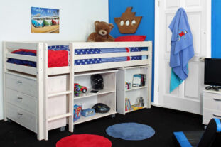 Thuka Hit 3 - Midsleeper with Desk, Chest & Bookcase