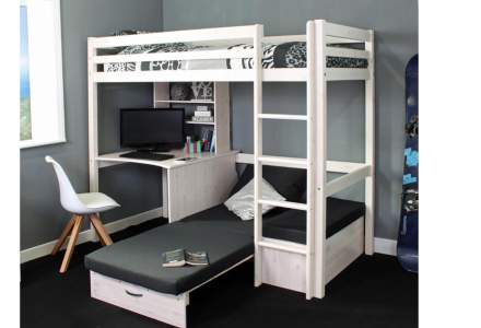 Thuka Hit 8 - Highsleeper with Desk & Chairbed