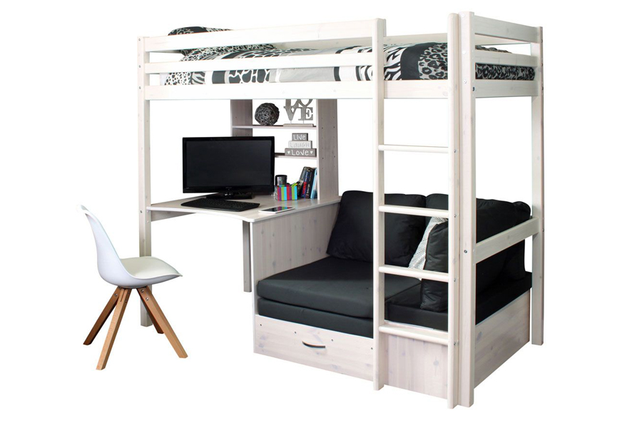 Thuka Hit 8 Highsleeper With Desk Chairbed