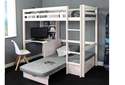 Thuka Hit 9 - Highsleeper with Desk & Chairbed