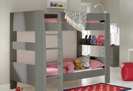 Solitaire Grey Bunkbed