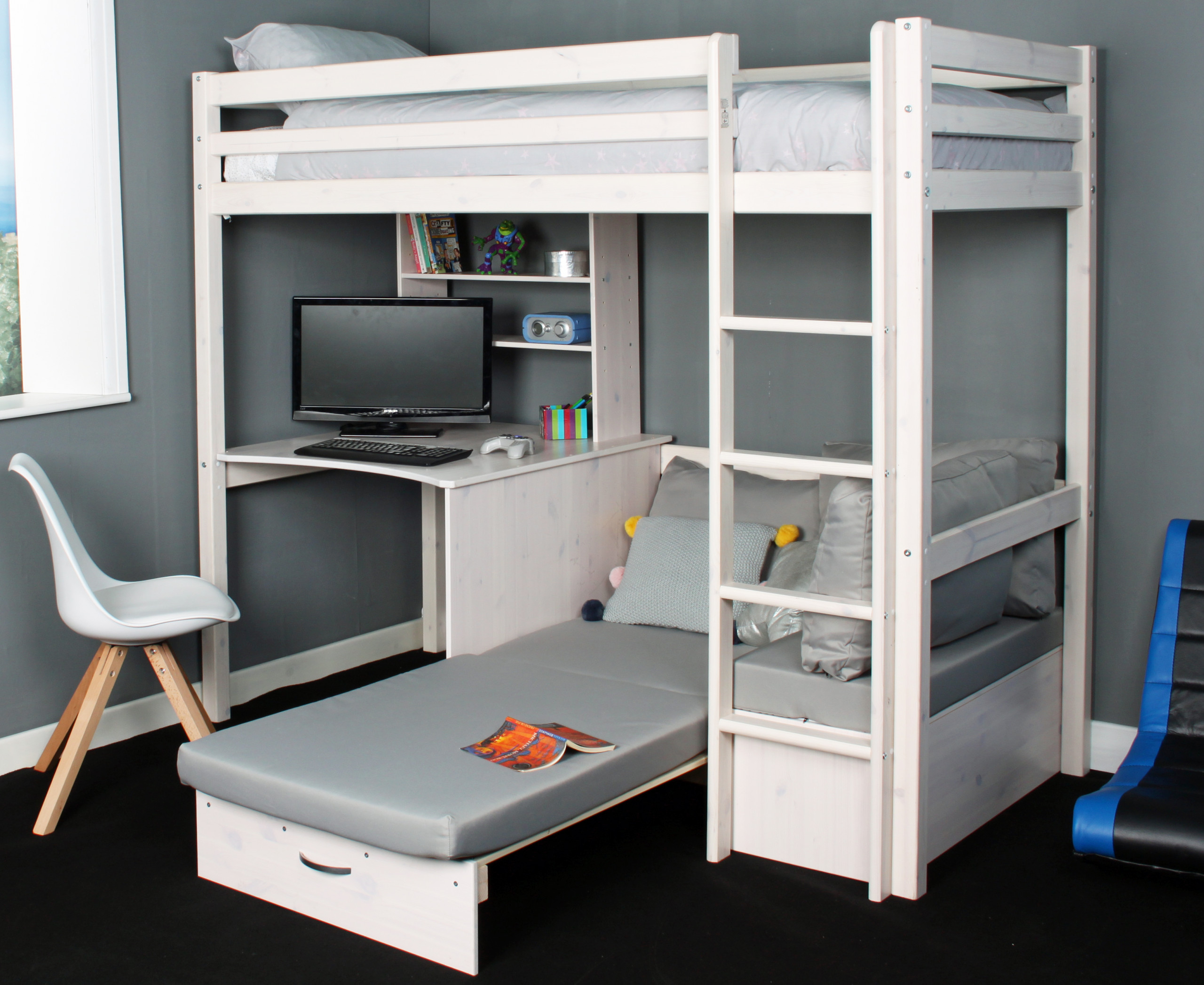 Thuka Hit 9 Highsleeper With Desk Chairbed
