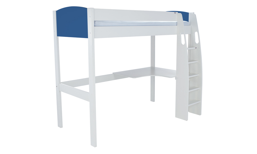 Unos highsleeper with desk-blue