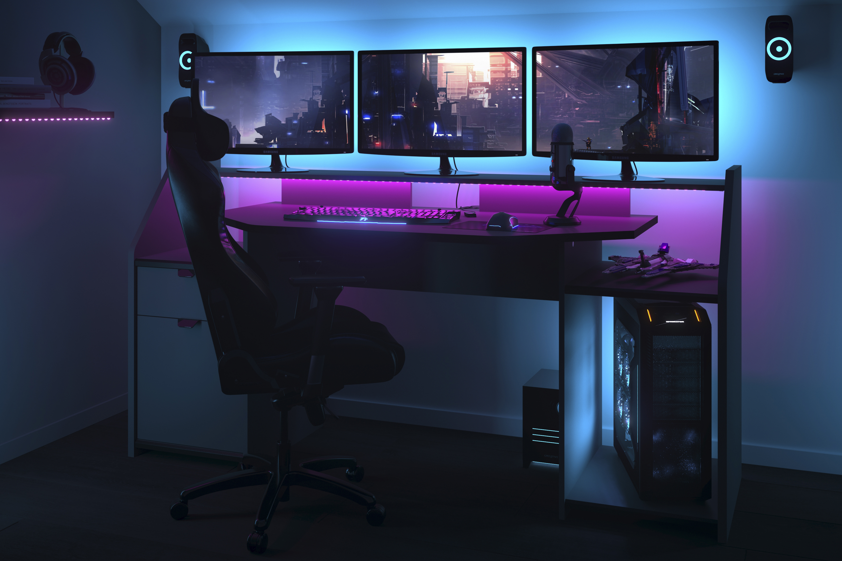 Gaming Setup Desk