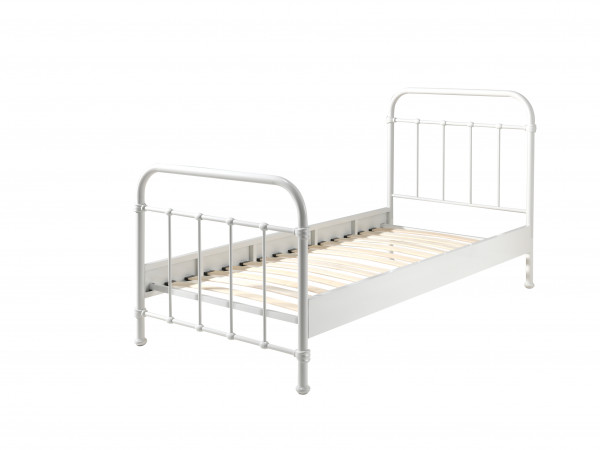 City metal Single bed in white cut out