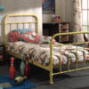 City Metal Single Bed in Yellow