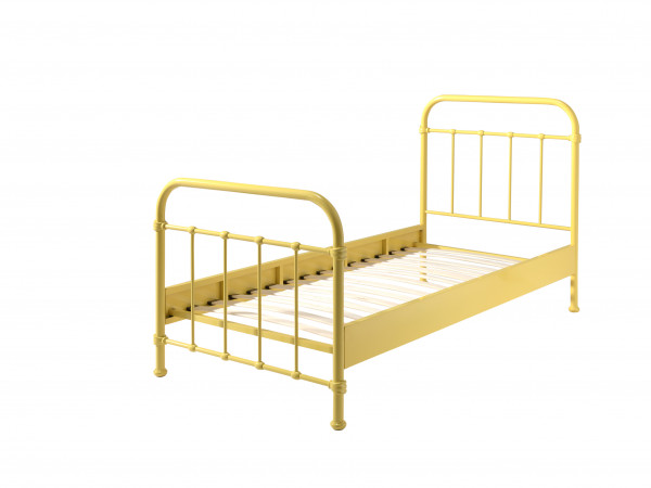 City Metal Single Bed in Yellow cut out