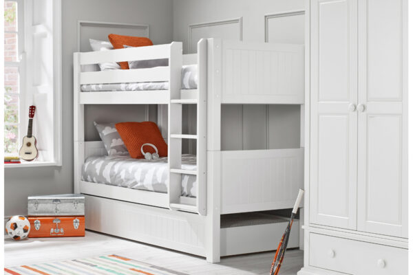 O&L Surf white bunk with trundle