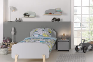 Sherbert Single Bed - Grey