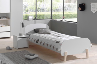 Sherbert Single bed in white