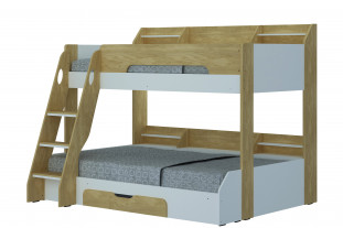 Flick Triple Bunk Bed - Oak