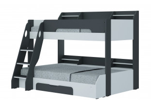 Flick Triple Bunk Bed - Grey