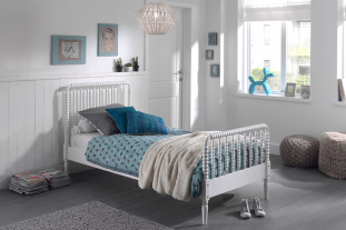 Ophelia White single bed