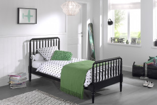 Ophelia Black Single Bed