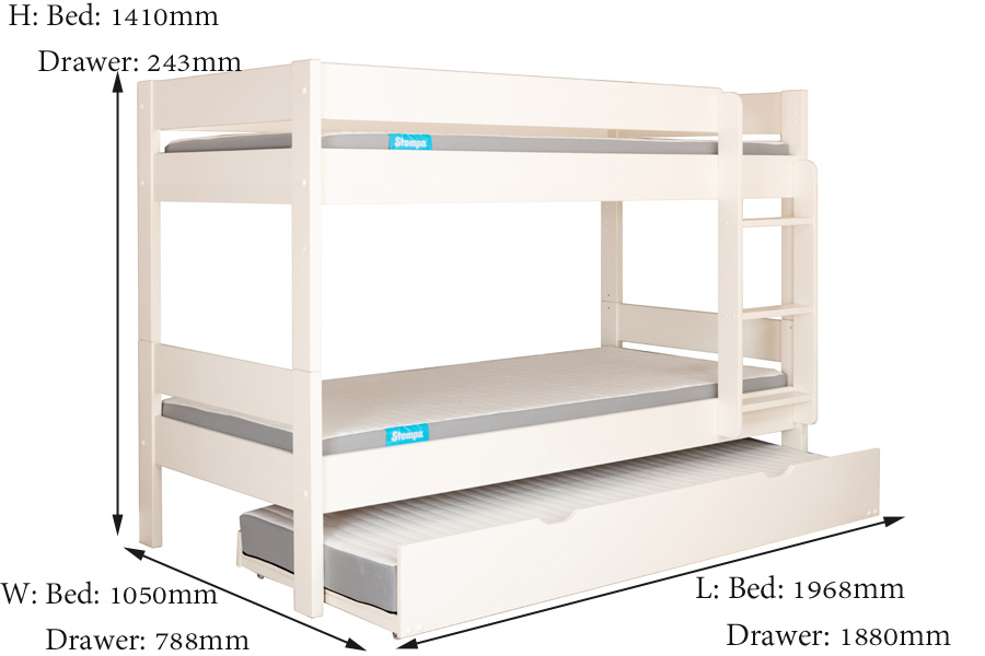 compact bunk measurements