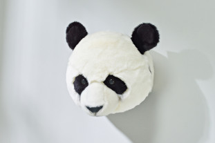 panda head wall decor