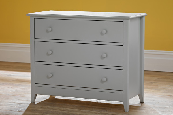 JUbilee 3 drawer chest wood handles grey