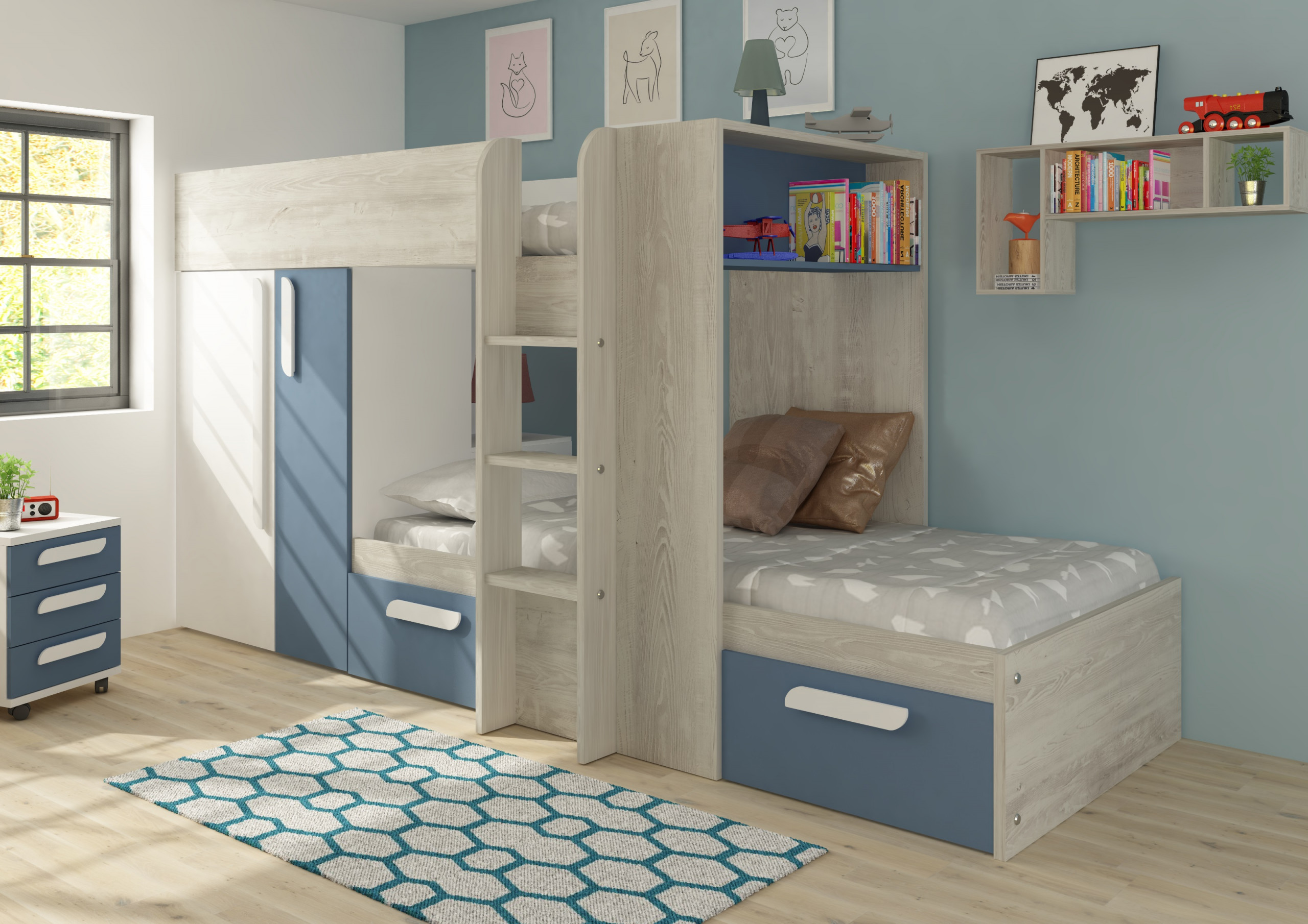 Picture of: Barca Children S Bunk Bed Room To Grow