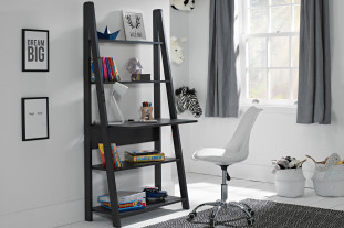 Delta Desk with Shelving in Black