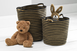 Brighton Stripe Storage Baskets