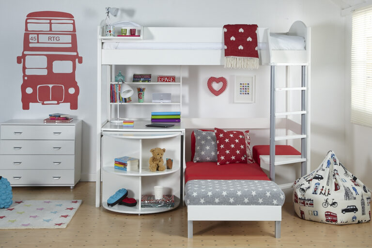 High Bed with Sofa