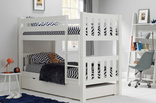 Jubilee Bunk Bed in Surf White with Trundle