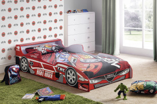 Red car bed set