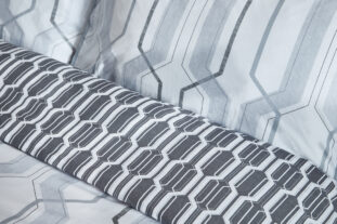Grey Geometric Single Duvet Set