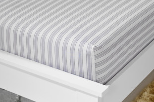 grey stripe fitted sheet
