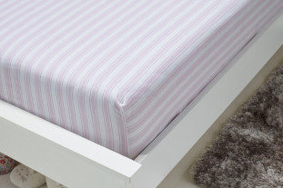 pink stripe fitted sheet