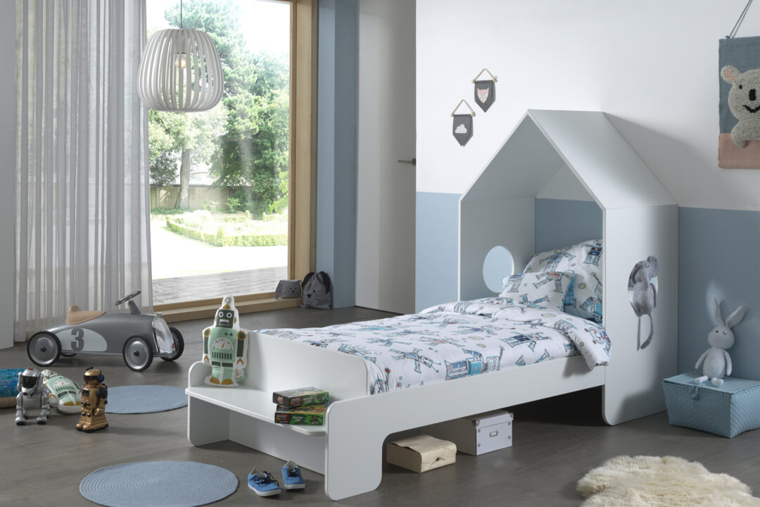Abode white single bed