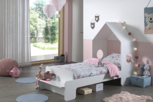 Abode single white bed