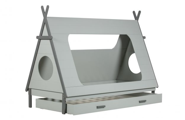 grey teepee bed