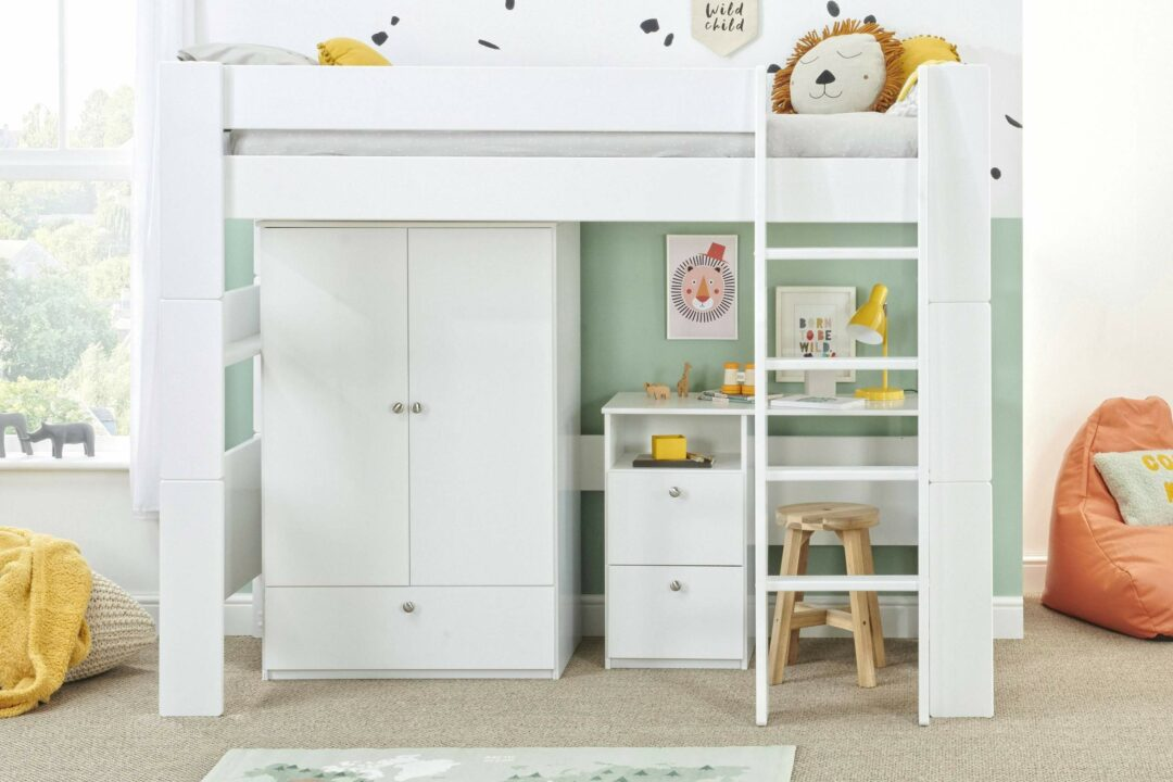Bloc high sleeper with open robe and desk 2